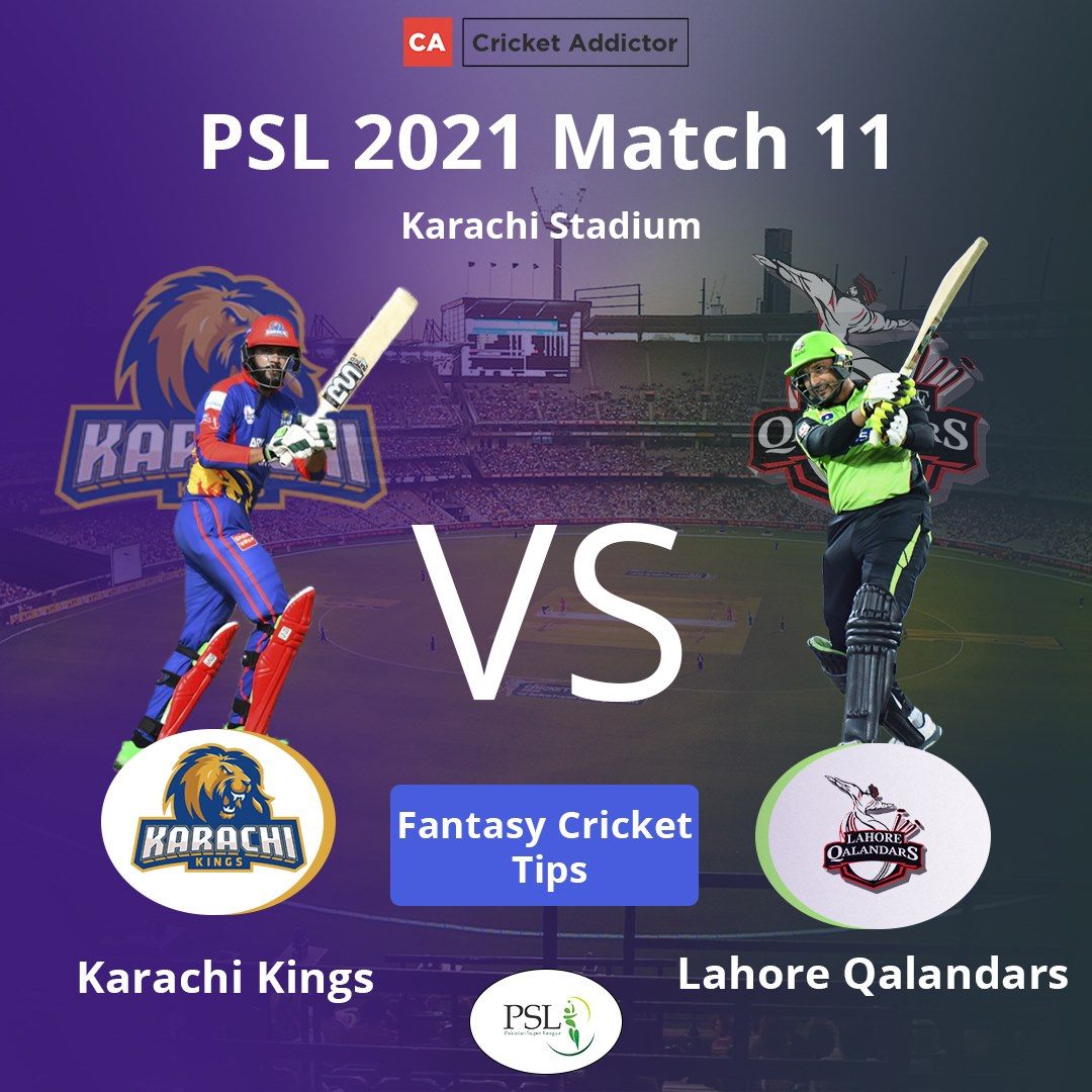 KAR vs LAH Dream11 Prediction, Fantasy Cricket Tips, Playing XI, Pitch Report, Dream11 Team, Injury Update – Pakistan Super League 2021