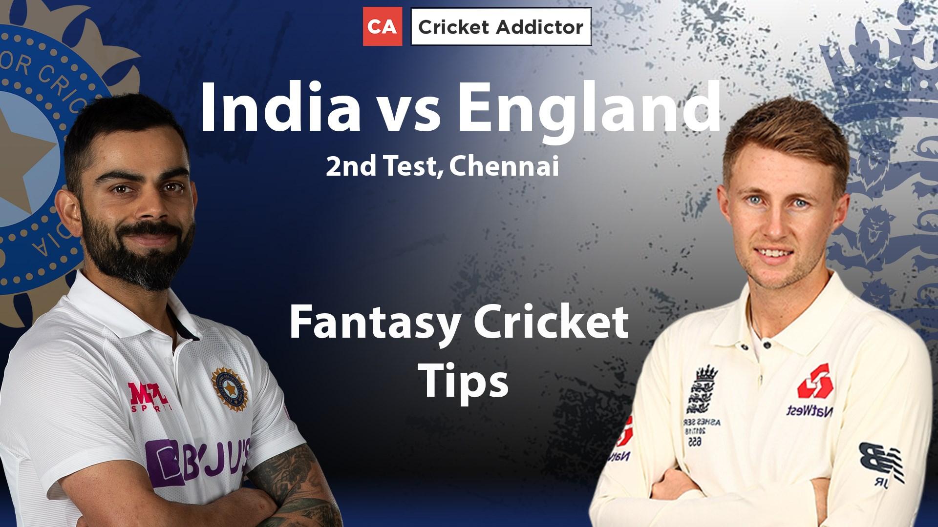 India vs England 2nd Test Dream11 Prediction Fantasy Cricket Tips Dream11 Team