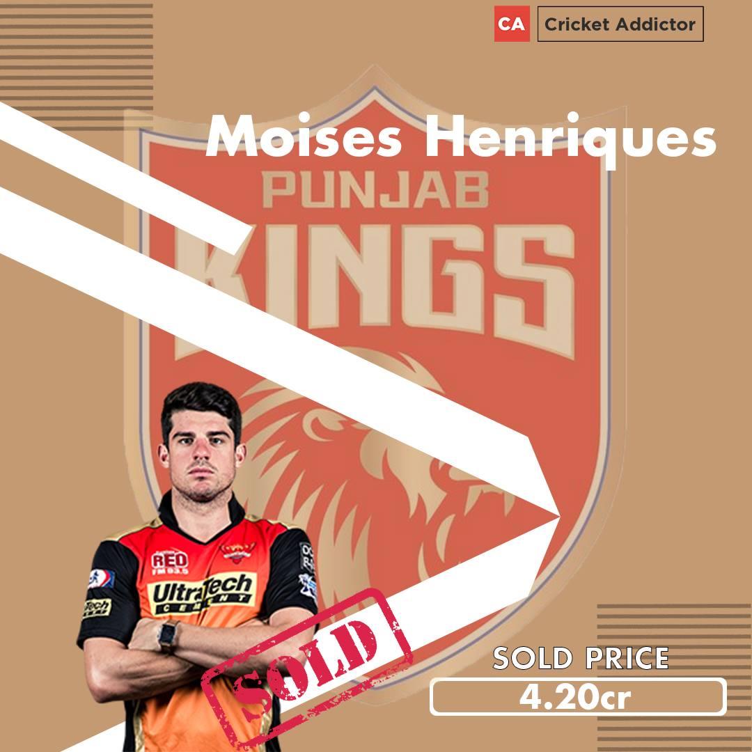 Moises Henriques, IPL 2021 Auction, Punjab Kings