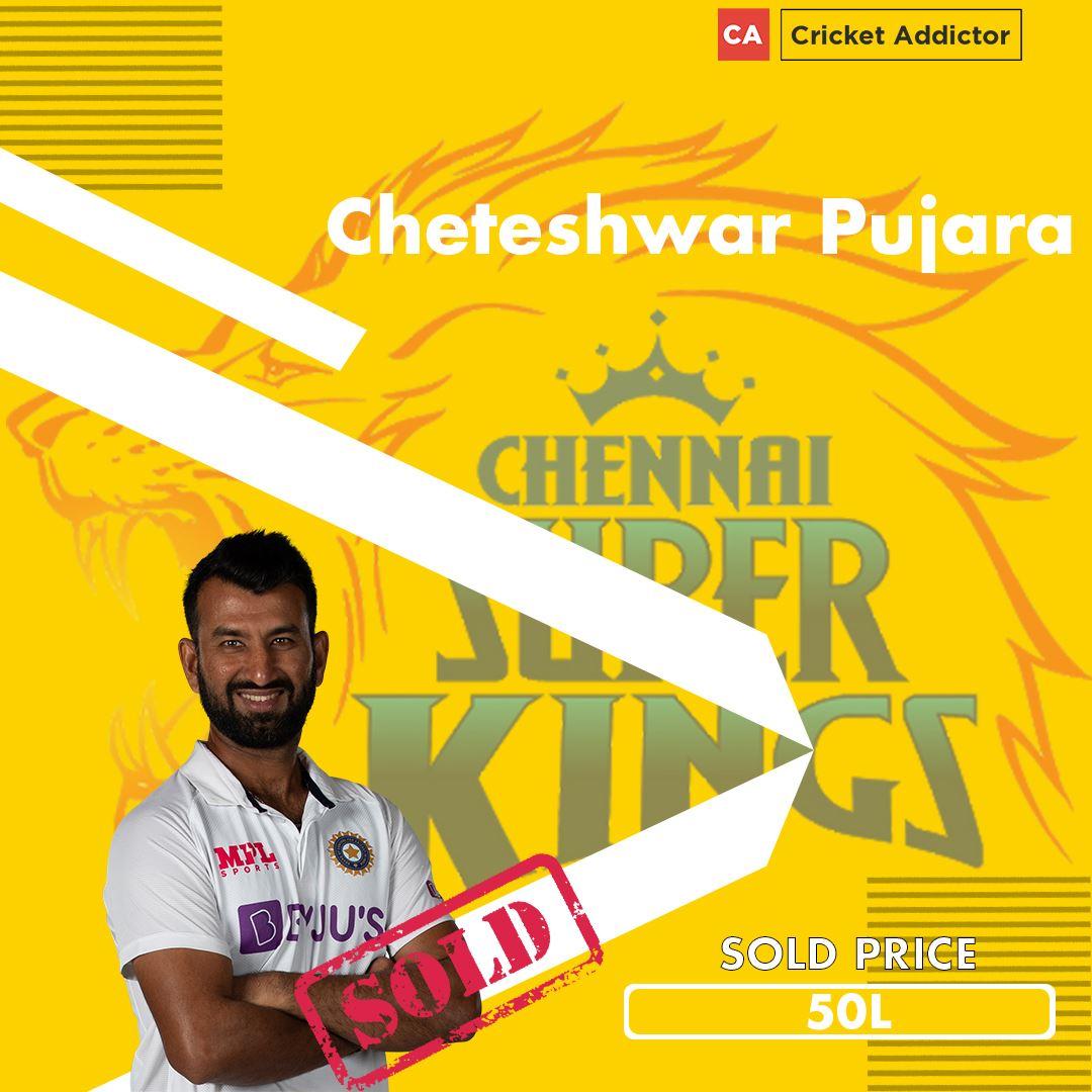 Cheteshwar Pujara, IPL 2021 Auction, Chennai Super Kings