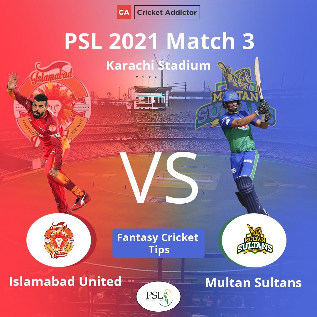 ISL vs MUL Dream11 Prediction, Fantasy Cricket Tips, Playing XI, Pitch Report, Dream11 Team, Injury Update – Pakistan Super League 2021 - Cricket Addictor