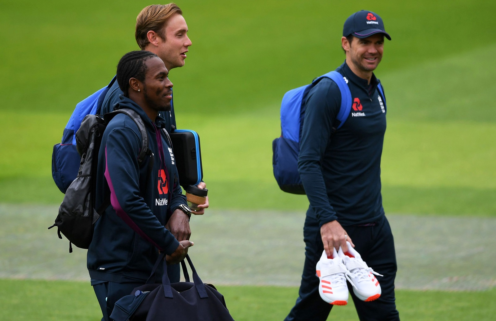 James Anderson, Stuart Broad and Jofra Archer (Getty)