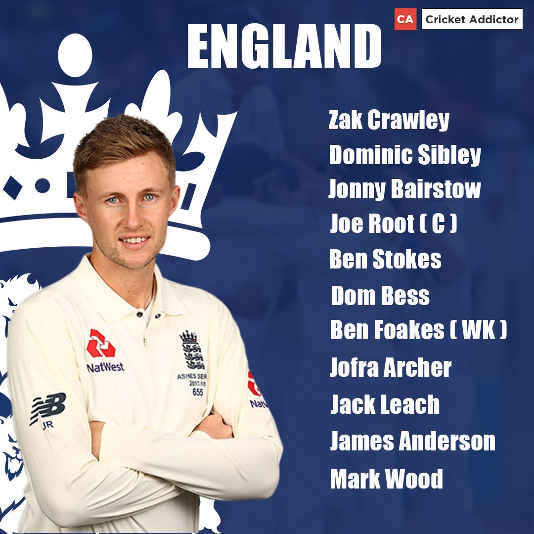 India vs England 2021, 3rd Test: England's Predicted XI