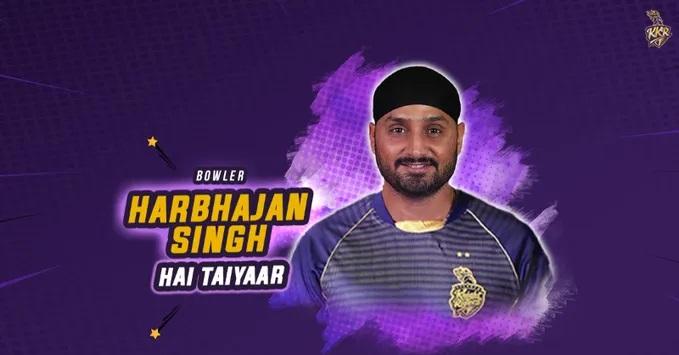 Harbhajan Singh (KKR Twitter)