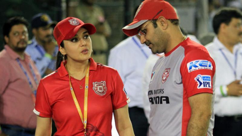 Preity Zinta, Virender Sehwag