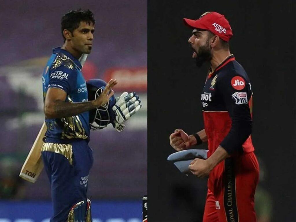 Suryakumar Yadav and Virat Kohli (IPLT20)