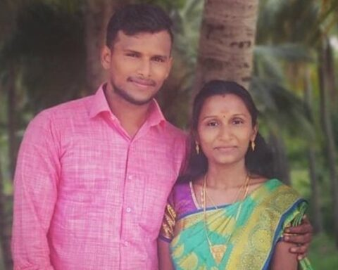 T Natarajan and his wife