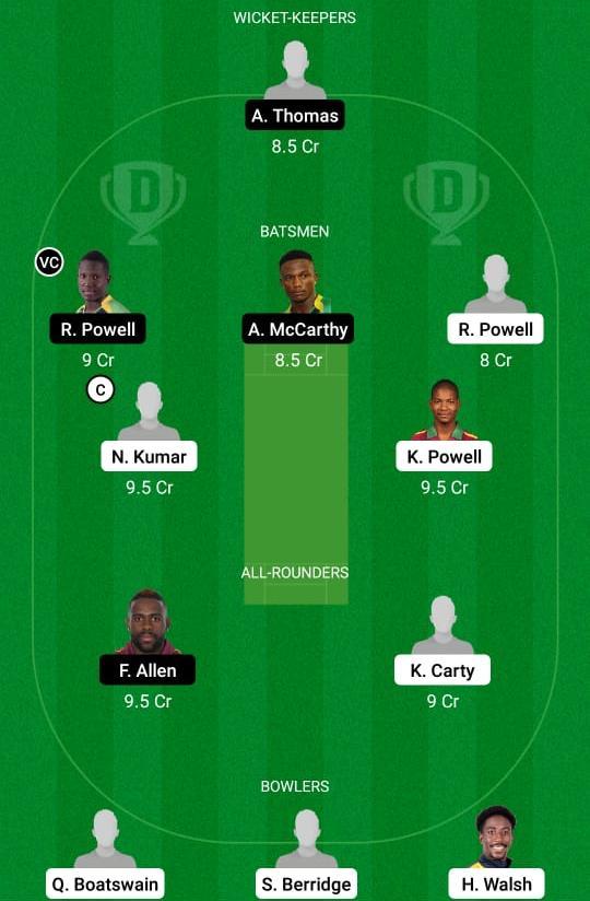 LEE vs JAM Dream11 Prediction Fantasy Cricket Tips Dream11 Team West Indies ODD