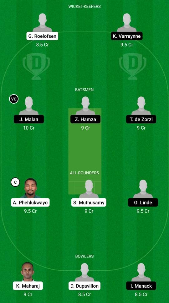 DOL vs CC Dream11 Prediction Fantasy Cricket Tips Dream11 Team South African T20 Challenge