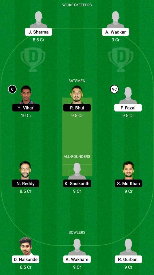 VID vs AND Dream11 Prediction Fantasy Cricket Tips Dream11 Team Vijay Hazare Trophy