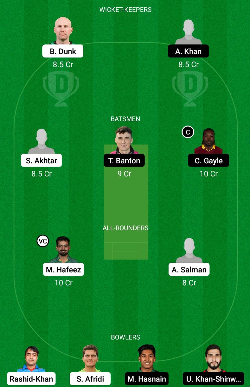 LAH vs QUE Dream11 Prediction Fantasy Cricket Tips Dream11 Team Pakistan Super League