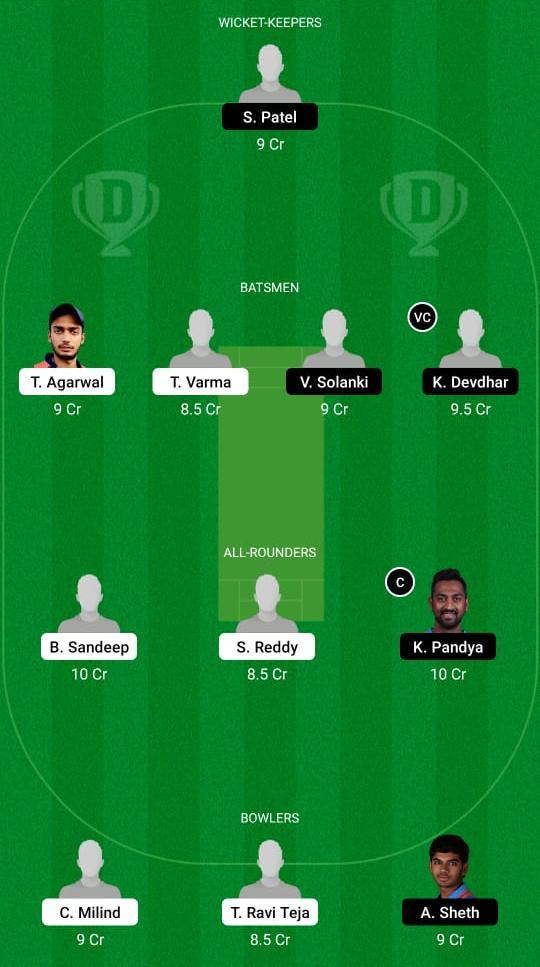 HYD vs BRD Dream11 Prediction Fantasy Cricket Tips Dream11 Team Vijay Hazare Trophy