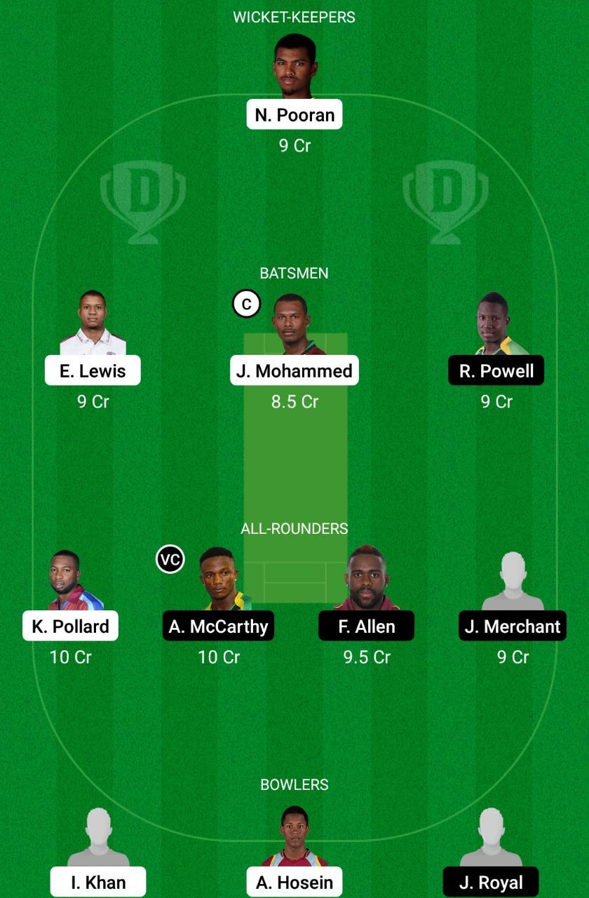 TRI vs JAM Dream11 Prediction Fantasy Cricket Tips Dream11 Team West Indies ODD