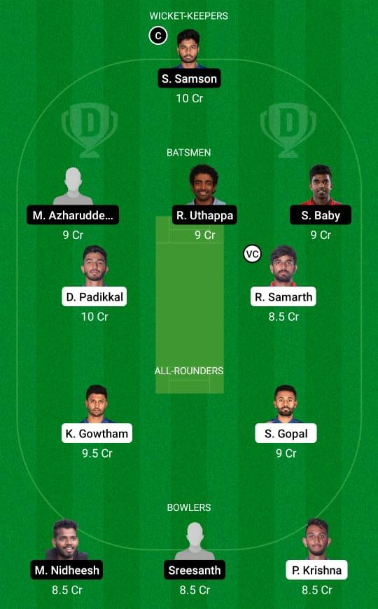 KAR vs KER Dream11 Prediction Fantasy Cricket Tips Dream11 Team Vijay Hazare Trophy