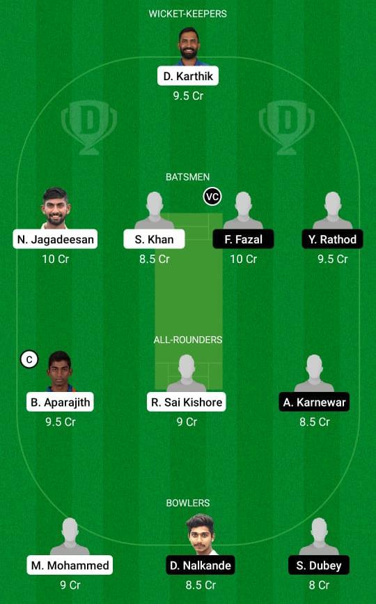 TN vs VID Dream11 Prediction Fantasy Cricket Tips Dream11 Team Vijay Hazare Trophy