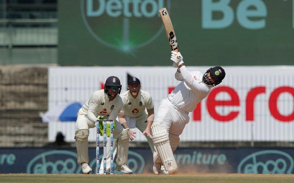 Rishabh Pant during Chennai Test