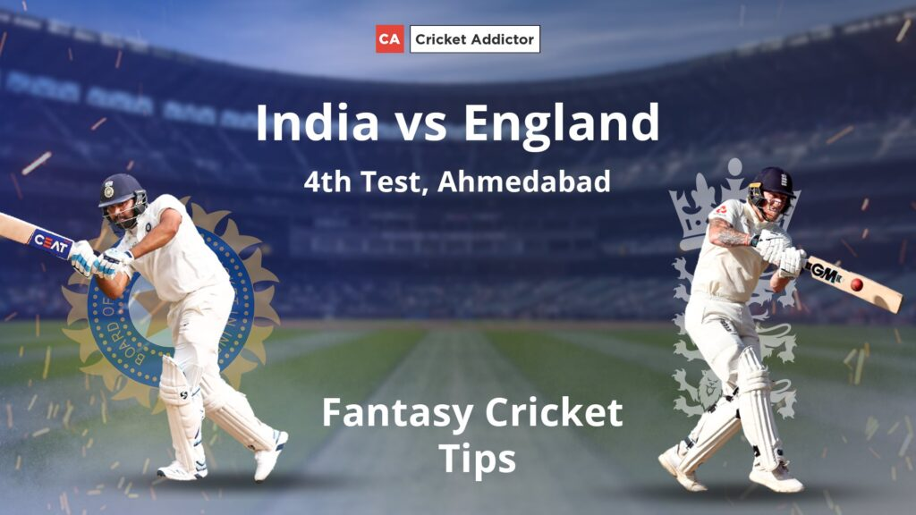 India vs England 4th Test Dream11 Prediction, Fantasy Cricket Tips, Playing XI, Pitch Report, Dream11 Team, and Injury Update.