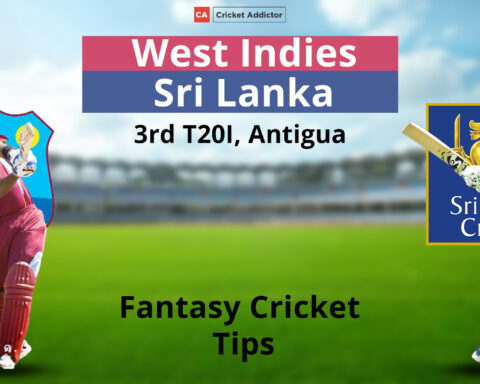 West Indies vs Sri Lanka Dream11 Prediction, Fantasy Cricket Tips, Playing XI, Pitch Report, Dream11 Team, and Injury Update.