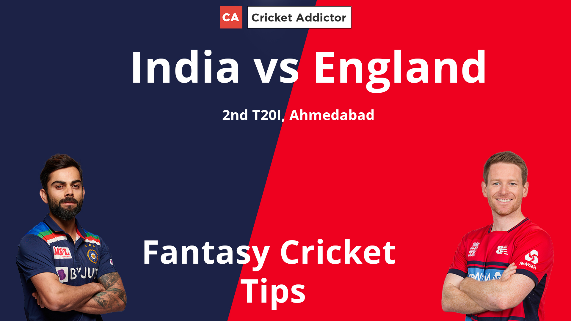 India vs England 2nd T20I Dream11 Prediction, Fantasy Cricket Tips, Playing XI, Pitch Report, Dream11 Team, and Injury Update.