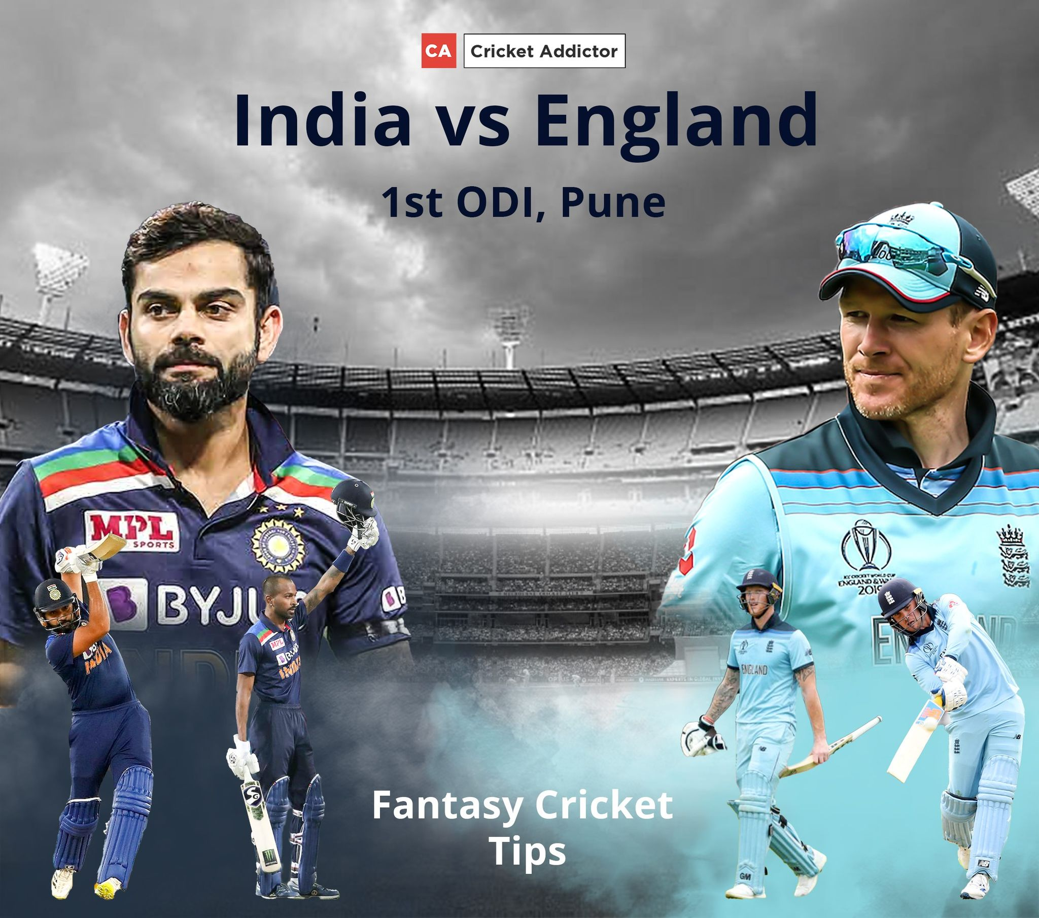 India vs England 1st ODI Dream11 Prediction, Fantasy Cricket Tips, Playing XI, Pitch Report, Dream11 Team, and Injury Update.
