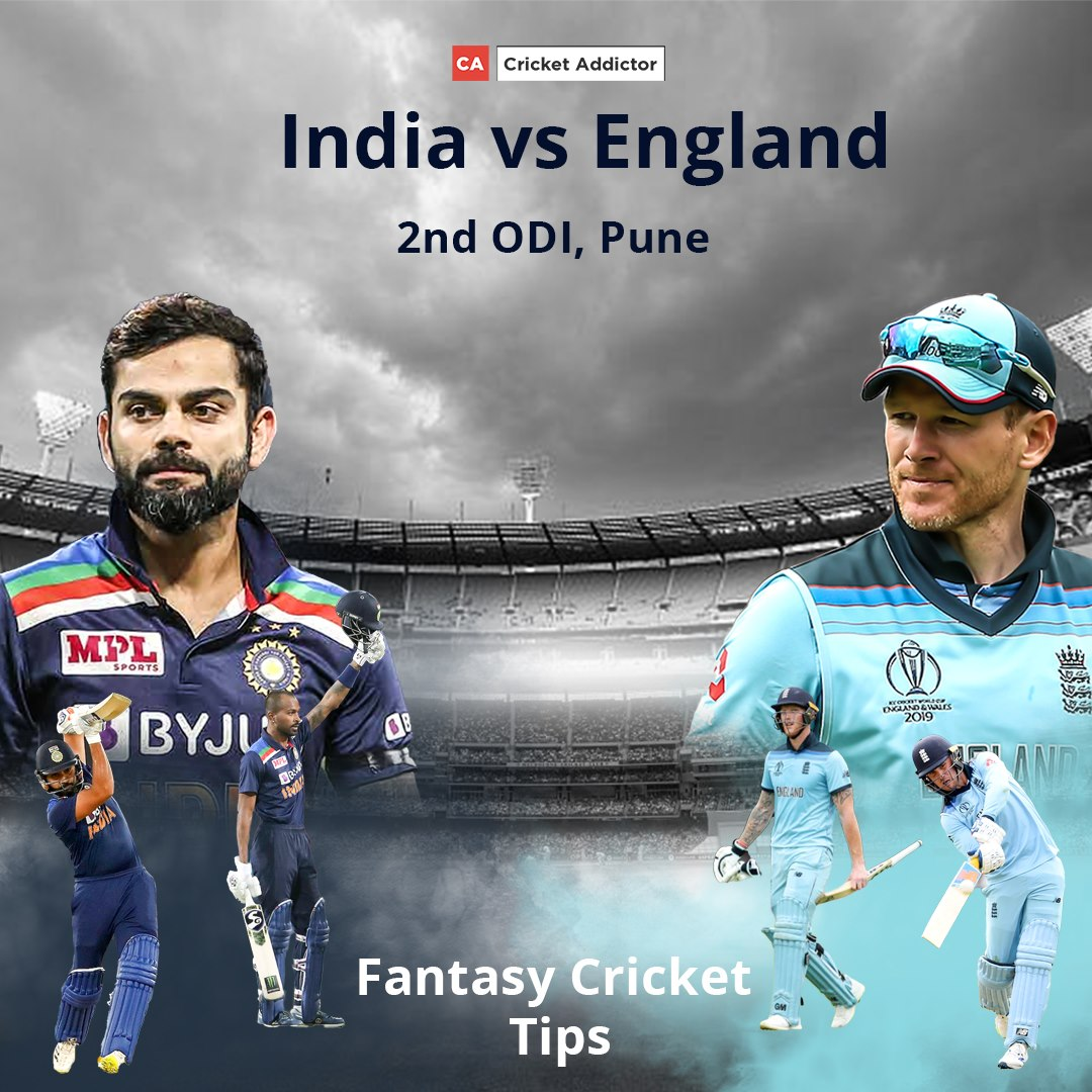 India vs England 2nd ODI Dream11 Prediction, Fantasy Cricket Tips, Playing XI, Pitch Report, Dream11 Team, and Injury Update.