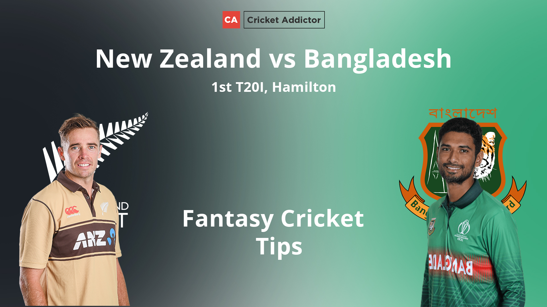 New Zealand vs Bangladesh 1st T20I Dream11 Prediction, Fantasy Cricket Tips, Playing XI, Pitch Report, Dream11 Team, Injury Update.