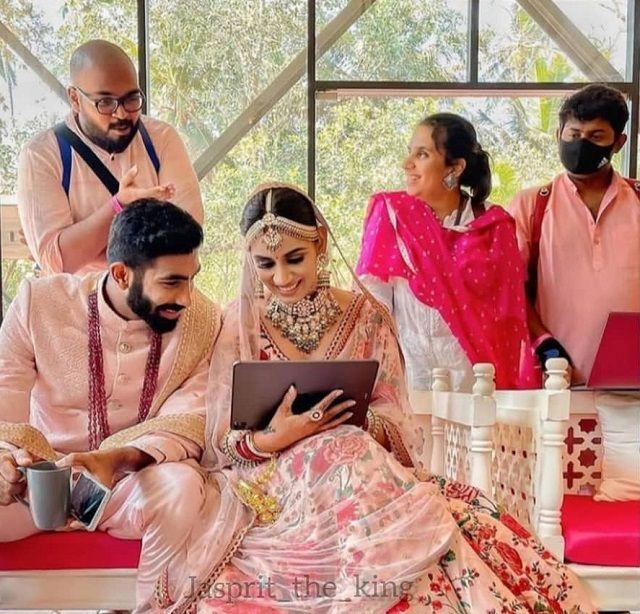 Jasprit Bumrah and Sanjana Ganesan Wedding