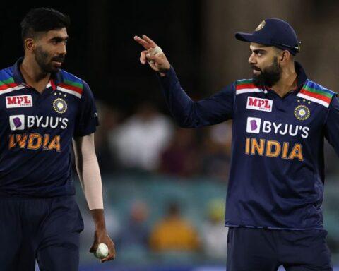 Jasprit Bumrah and Virat Kohli