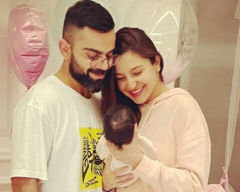Virat Kohli and Anushka Sharma with daugther Vamika