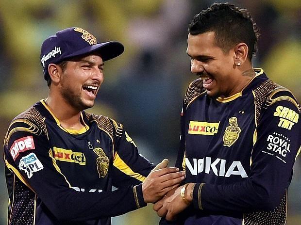 Kuldeep Yadav and Sunil Narine
