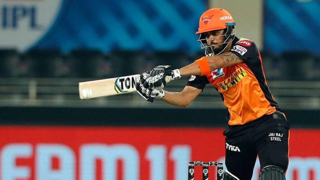 Manish Pandey, IPL 2021, SRH, SunRisers Hyderabad, SRH vs KKR, predicted XI