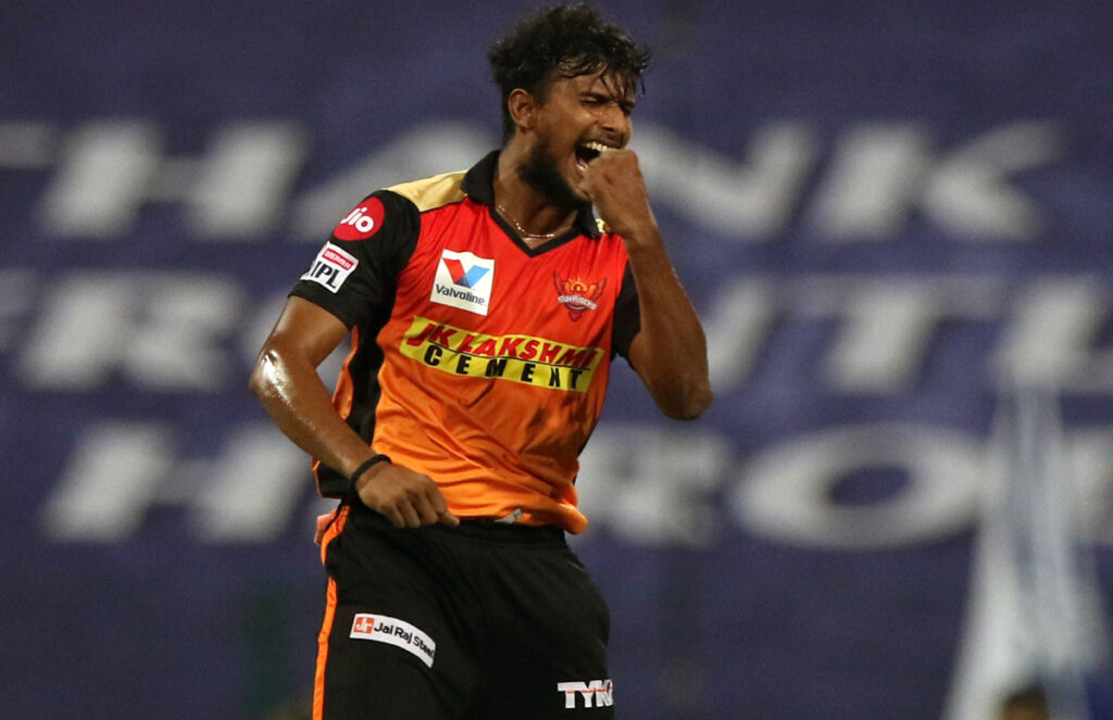 T Natarajan, IPL 2021, SRH, SunRisers Hyderabad, SRH vs KKR, predicted XI