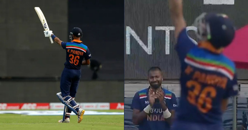 Watch: Hardik Pandya Breaks Into Tears As Krunal Pandya Scores His Maiden Half-Century