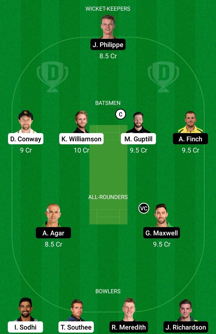 New Zealand vs Australia 4th T20I Dream11 Prediction Fantasy Cricket Tips Dream11 Team