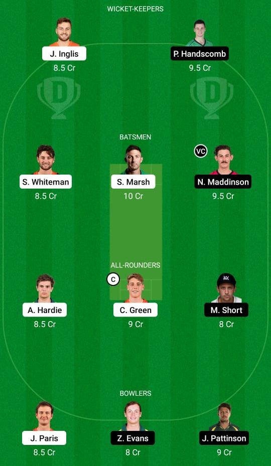 WAU vs VCT Dream11 Prediction Fantasy Cricket Tips Dream11 Team Australia One Day Cup