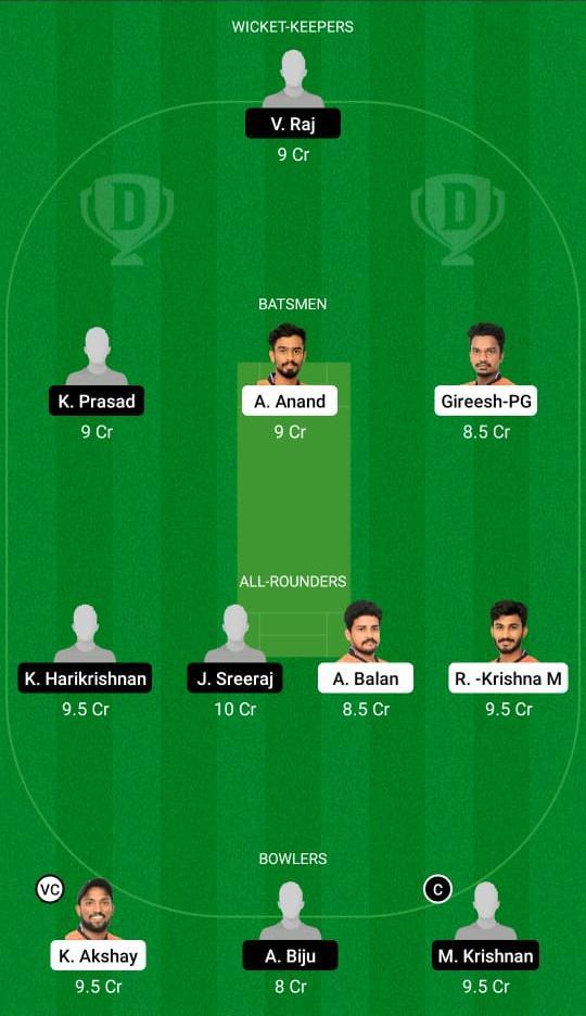 EAG vs ROY Dream11 Prediction Fantasy Cricket Tips Dream11 Team KCA Presidents Cup