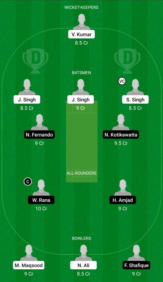 KIN-XI vs PIA Dream11 Prediction Fantasy Cricket Tips Dream11 Team ECS T10 Bologna