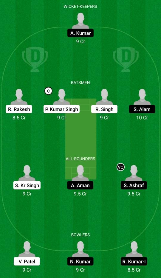 GG vs AA Dream11 Prediction Fantasy Cricket Tips Dream11 Team Bihar T20