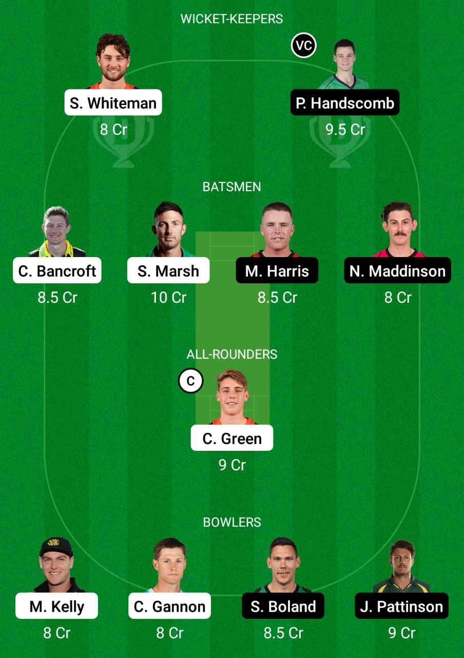 WAU vs VCT Dream11 Prediction Fantasy Cricket Tips Dream11 Team Sheffield Shield