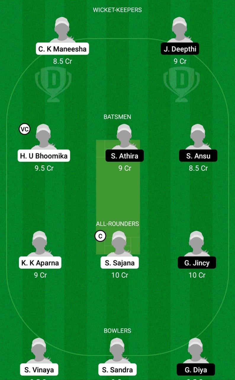 SAP vs AMB Dream11 Prediction Fantasy Cricket Tips Dream11 Team Kerala Women's T20