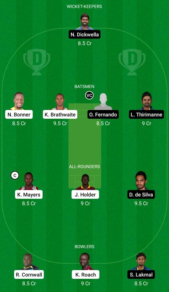 West Indies vs Sri Lanka 2nd Test Dream11 Prediction Fantasy Cricket Tips Dream11 Team