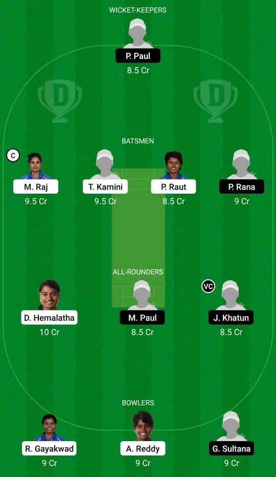 RAI-W vs BEN-W Dream11 Prediction Fantasy Cricket Tips Dream11 Team Women's Senior One Day Trophy