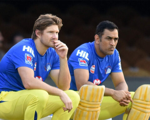 Shane Watson and MS Dhoni for CSK (CSK Twitter)