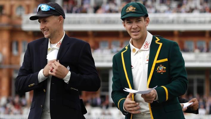 Joe Root, Tim Paine., England, Australia