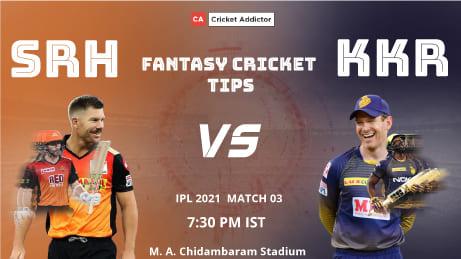 SunRisers Hyderabad (SRH) vs Kolkata Knight Riders (KKR) Dream11 Prediction, Fantasy Cricket Tips, Playing XI, Pitch Report, Dream11 Team, Injury Update of VIVO IPL 2021.