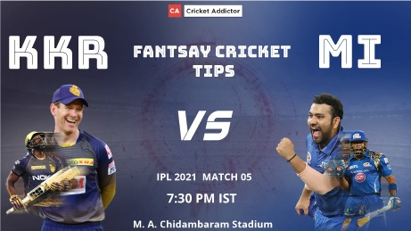 Kolkata Knight Riders (KKR) vs Mumbai Indians (MI) Dream11 Prediction, Fantasy Cricket Tips, Playing XI, Pitch Report, Dream11 Team, Injury Update of VIVO IPL 2021.