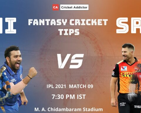 Mumbai Indians (MI) vs SunRisers Hyderabad (SRH) Dream11 Prediction, Fantasy Cricket Tips, Playing XI, Pitch Report, Dream11 Team, Injury Update of VIVO IPL 2021.