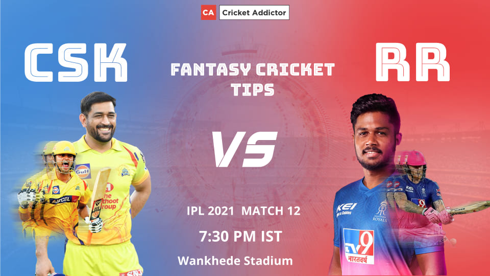 Chennai Super Kings (CSK) vs Rajasthan Royals (RR) Dream11 Prediction, Fantasy Cricket Tips, Fantasy Team, Playing XI, Pitch Report, Dream11 Team, Injury Update of VIVO IPL 2021.