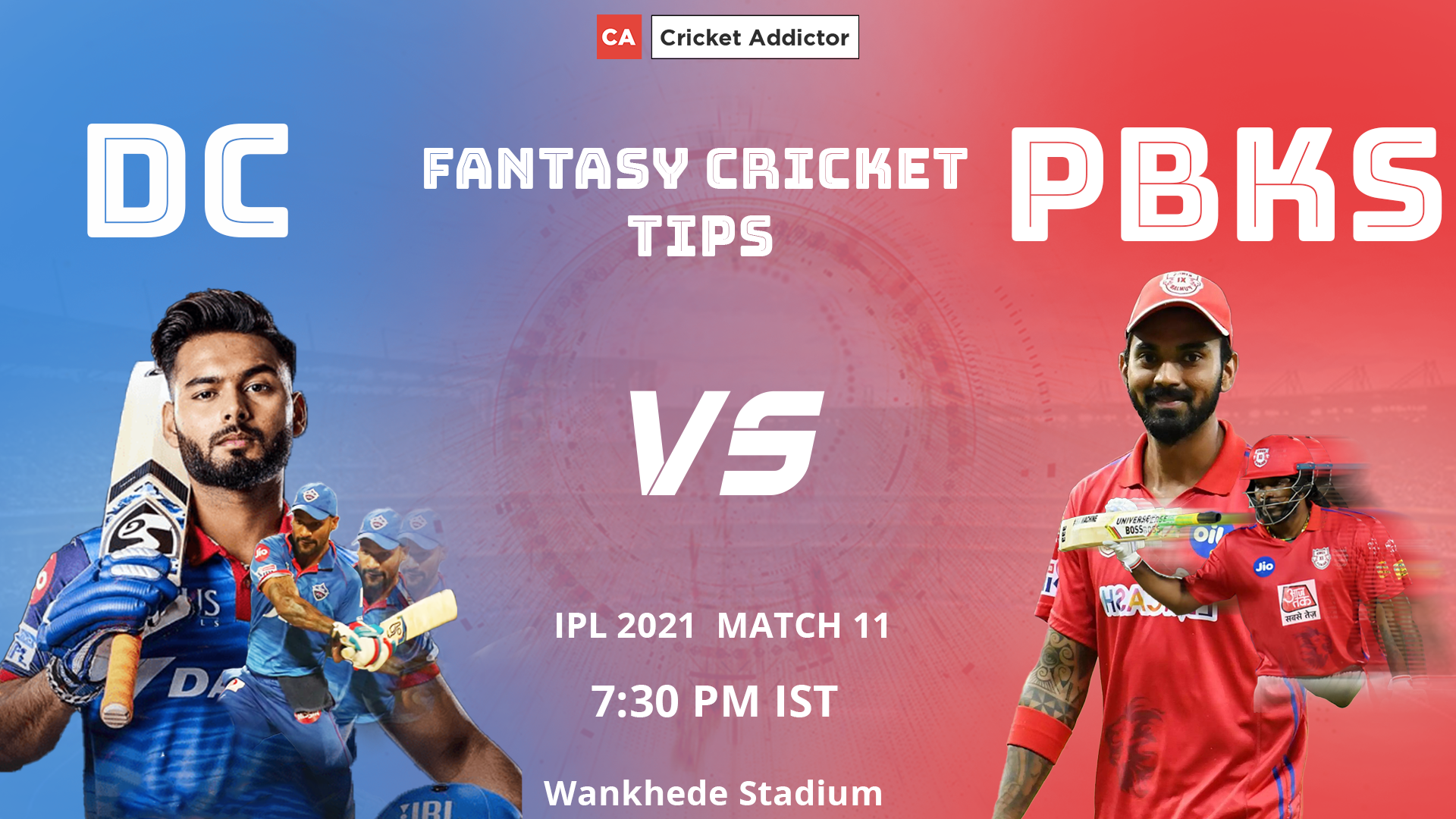 Delhi Capitals (DC) vs Punjab Kings (PBKS) Dream11 Prediction, Fantasy Cricket Tips, Playing XI, Pitch Report, Dream11 Team Today, Fantasy Team, Injury Update of VIVO IPL 2021.