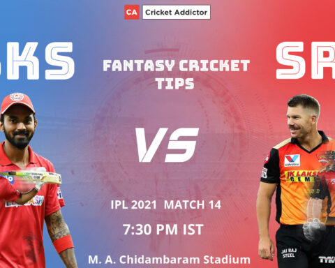 Punjab Kings (PBKS) vs SunRisers Hyderabad (SRH) Dream11 Prediction, Fantasy Cricket Tips, Playing XI, Fantasy Team, Pitch Report, Dream11 Team, Injury Update of VIVO IPL 2021.